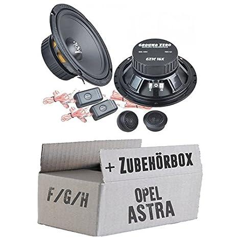 OPEL ASTRA F, G, H-Ground Zero GZIC 16x-16cm Système de haut-parleur-Kit de montage