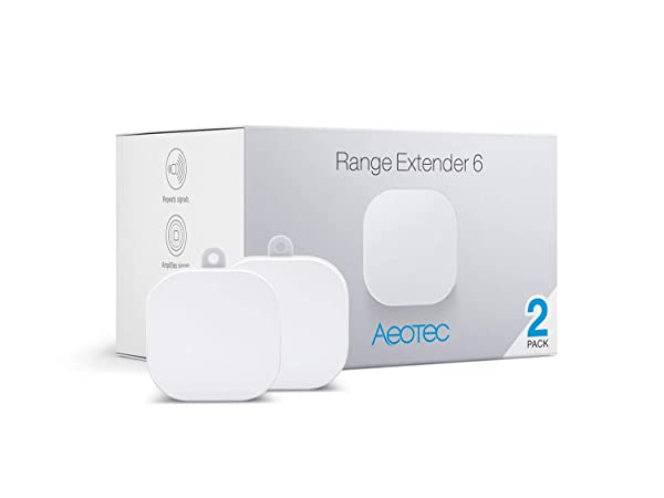 Aeotec Range Extender 6, Z-Wave Plus Repeater, 2 Pack (Color: White, Tamaño: Small)