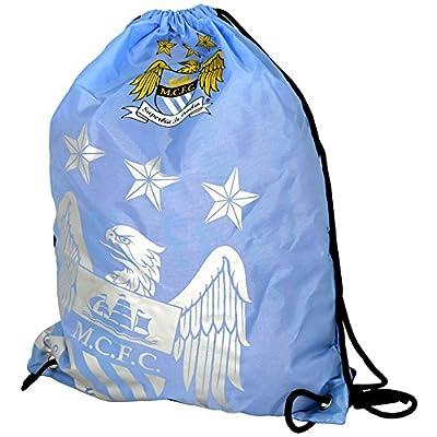Manchester City FC Official Foil Print Football Crest Gym Bag