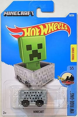 MINECRAFT Hot Wheels 2016 HW Ride-Ons Series #5/5 TRACK STARS 1:64 Scale Collectible Die Cast Metal Toy Car Model #70/250 on International Card from Mattel