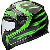 Shox Sniper Skar Motorrad Helm XL Grün