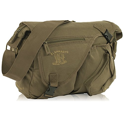 Elephant the JACK BAG Messenger Canvas Unisex - Army Green