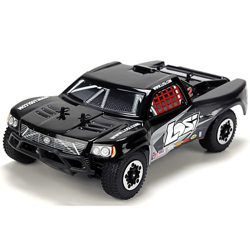1/24 4WD Short Course Truck RTR: Black/Grey