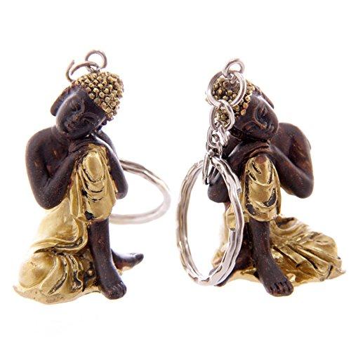 portachiavi-con-buddha-tailandese-in-oro-e-marrone-in-resina