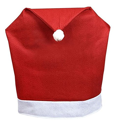 Bobonida Hot Sale Santa Claus Christmas Kitchen Chair Covers Decor Christmas Holiday Festive Santa Hat Christmas Chair Slip Covers (4 pcs Santa Hat)