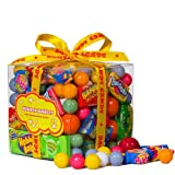 Bubble Gum Sweets Selection Gift Cube - Great Birthday Gift Idea For Anyone