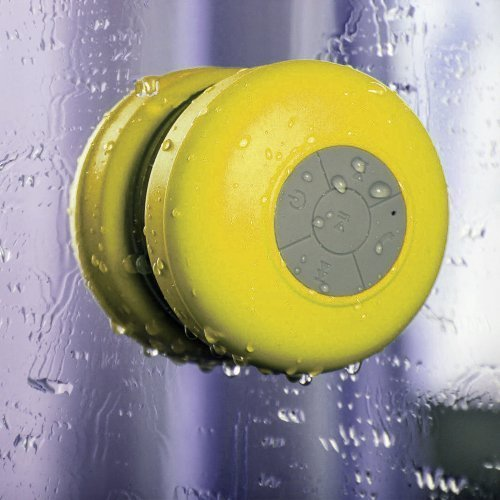Victsing Waterproof Portable Wireless Bluetooth 3.0 Mini Speaker 3W Shower Pool Car Handsfree With Microphone For Apple Iphone 4 4S 5 5S 5C S4 Ipad Ipod Mp3 Mp4 Tablet Pc - Yellow