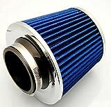 選べる カラー 強力 エア フィルター メッシュ タイプ キノコ 型 汎用 エア クリーナー オリジナル 作業手袋 セット(ブルー)