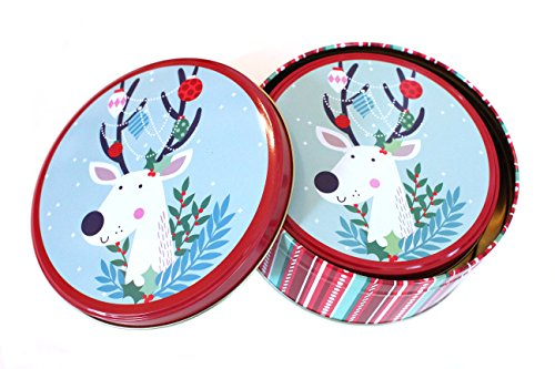 Christmas Holiday Round Nesting Tins