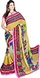 Trishulom Cloth's Online Women's Georgette Sarees With Blouse Piece (Multi-Coloured)