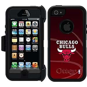 Coveroo Chicago Bulls Basket Ball Design Phone Case for iPhone 5/5s - Retail Packaging - Black/Black