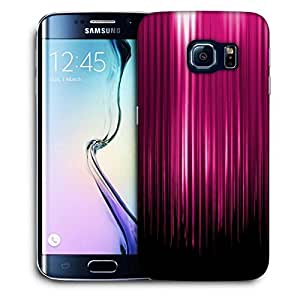 Snoogg Pink Rays Falling Printed Protective Phone Back Case Cover For Samsung Galaxy S6 EDGE / S IIIIII