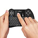 Seneo 2.4GHz Backlit Wireless Mini Keyboard with Touchpad Mouse for Google Android TV Box, HTPC