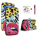 The Little Penguin Colorful Fashion Window Stand Case with Magnetic Closure for Samsung Galaxy Mega 6.3 with AT&T, Sprint, MetroPCS, U.S. Cellular (Sexy Lady)