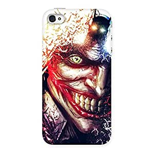 Special Crazy Insanity Multicolor Back Case Cover for iPhone 4 4s