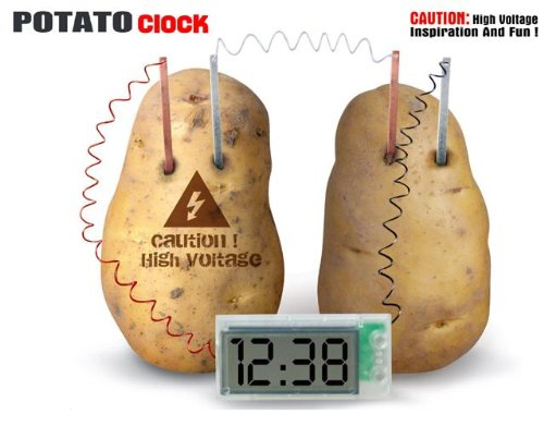 Potato Clock Green Science Project Experiment Kit With Retail Cardboard (Folded)