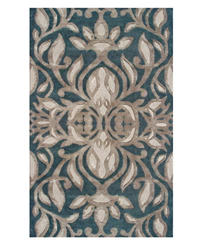 The Rug Market Antoinette Rug, Teal/Brown, 5′ x 8′