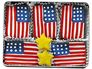 Red, White and Blue Patriotic Sugar Cookie Gift Tin