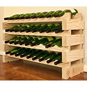 modularack bois casier vin 36 bouteilles pin naturel. Black Bedroom Furniture Sets. Home Design Ideas