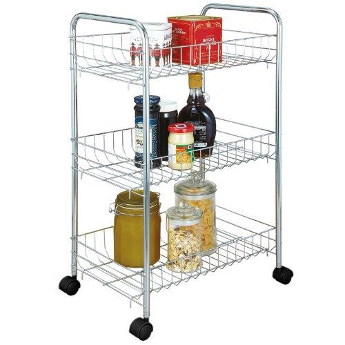 Scaffale multifunzionale carrello da cucina in metallo for Carrello portalegna da arredamento