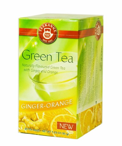 Teekanne Naturally Flavoured Green Tea With Ginger And Orange - 20 Count Bags