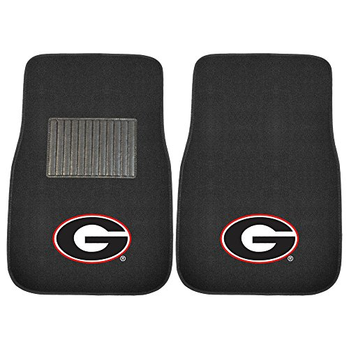 University of Georgia Bulldogs NCAA Collegiate Sports Team Logo Auto Vehicle Car Truck SUV Embroidered Carpet Front Floor Mats - Pair (Georgia Car Mats compare prices)