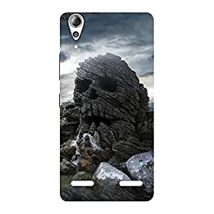 Enticing Skull Rock Back Case Cover for Lenovo A6000 Plus