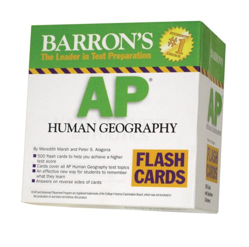 AP Human Geography Flash Cards (Barron's: the Leader in Test Preparation)