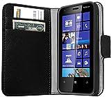 Mumbi Etui en Cuir pour Nokia Lumia 620 Noir