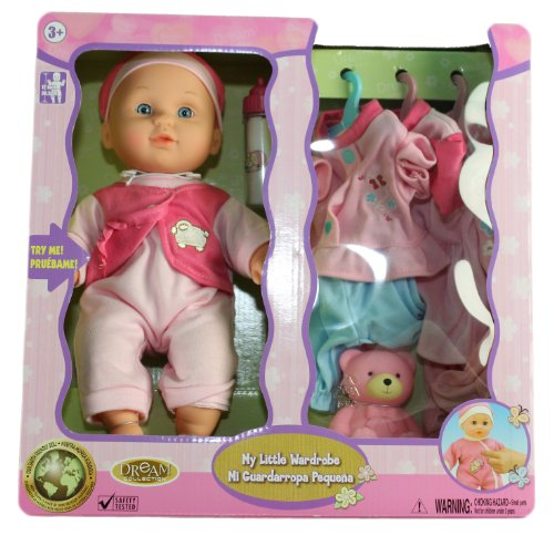 "12"" Crying and Laughing BABY DOLL With 3 Extra outfits 11152 Amazon.com"