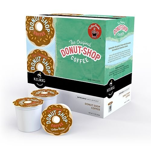 Coffee People Donut Shop Medium Roast Extra Bold, 18-Count K-Cups for Keurig Brewers