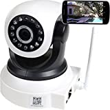 VideoSecu Baby Monitor IP Wireless Security Camera with Audio Pan Tilt Wi-Fi for iPhone iPad Android Phone or PC Remote View BKW