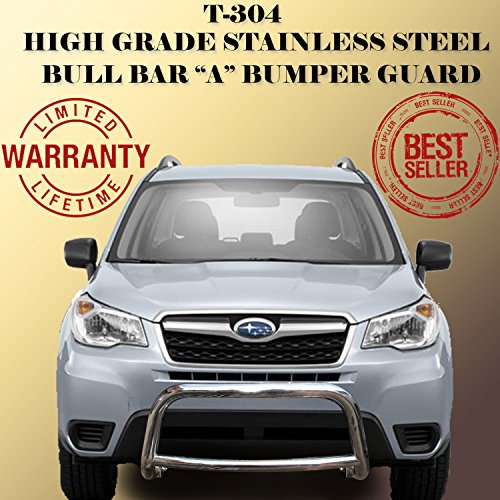 Wynntech Front Bull Bar 'A' Bumper Guard Protector Stainless Steel for 2014-2016 Subaru Forester (Subaru Bull Bar compare prices)