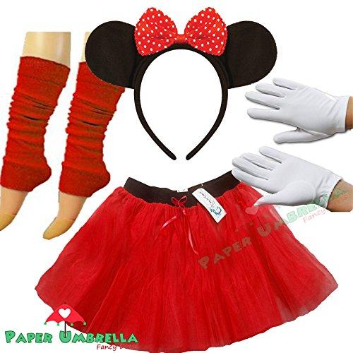 minnie maus kost m tutu ohren beinlinge set handschuhe. Black Bedroom Furniture Sets. Home Design Ideas