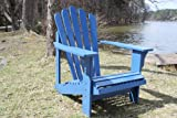 BLUE PAINTED CEDAR ADIRONDACK CHAIR
