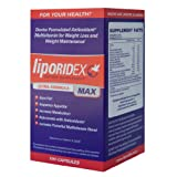 Liporidex MAX - Ultra Formula Weight Loss Supplement Fat Burner & Appetite Suppressant - The easy way to lose weight fast! - 72 diet pills - 1 Box.