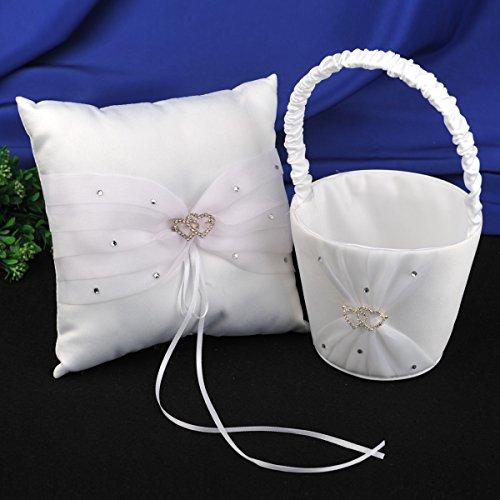 Flower Girl Basket Kit : Topwedding heart rhinestoned wedding flower girl basket