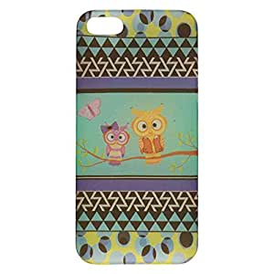 Cell Armor iPhone 5s/5 Ultra Thin Protective Cover - Retail Packaging - Two Owls and Butterfly