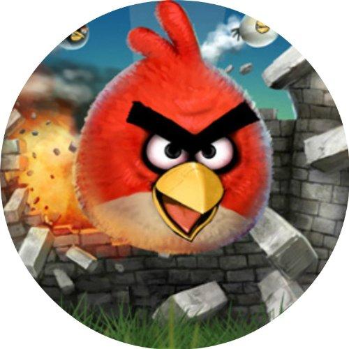 Tortenaufleger Tortenfoto Aufleger Foto Bild Angry Birds rund ca. 20 cm (1) *NEU*OVP*