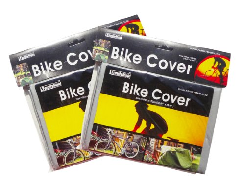 Best Waterproof Grey Bike Cover Tarp 2 Pack For Mopeds Scooters Road Bikes And Dirt Bikes - Trendy Gift Ideas For Men front-184950