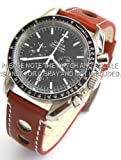 20mm Brown 'Grand Prix' Leather Watch strap for Omega Speedmaster Moon watch
