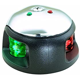 Attwood LED 2-Mile Deck Mount Navigation Bow Light, Stainless Steel