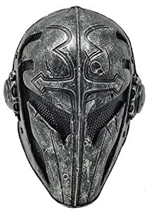 New Unique Handmade the Templar Paintball Airsoft Bb Gun Mask Black Army Protective Gear Outdoor Sport and Fancy Party Ghost Masks Full Face Protection Cosplay