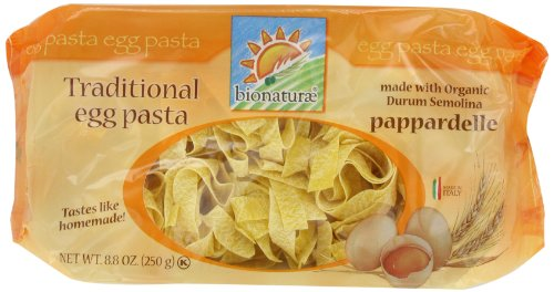 bionaturae With Organic Durum Semolina Pappardelle Egg Pasta, 8.8 Ounce Bags (Pack of 6) (Jovial Egg Pasta compare prices)