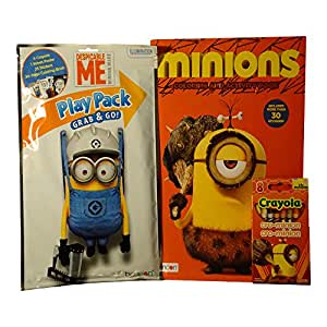 Amazon Cro Minions Stuart Coloring Activity Book Crayons Play Pack Despicable Me Stickers
