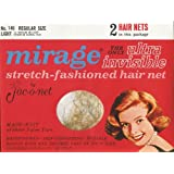 Jac-o-net Mirage Ultra Invisible Hair Net Regular Size * Light * No. 146 * 2 Nets Per Package