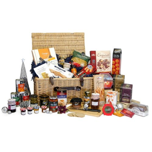 'Gabrielle' Large Luxury Traditional Wicker Christmas Hamper with 35 Gourmet Festive Food Items - Christmas Gifts, Xmas Corporate Hampers, 18th 21st 30th 40th 50th 60th 70th 80th 90th Birthday Gift Ideas for Her Him Men Women Mum Dad Brother Sister Wife H