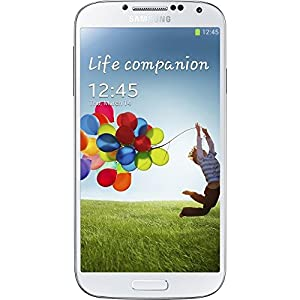 "Samsung Galaxy S4 I9500 16GB Unlocked GSM Phone with 4G, Android 4.2 OS, Quad-Core Processor, 13MP Camera + Secondary 2MP Camera, Video, 5"" Super AMOLED Touchscreen, GPS, Wi-Fi, Bluetooth, NFC and Infrared Port - White Frost from Samsung"