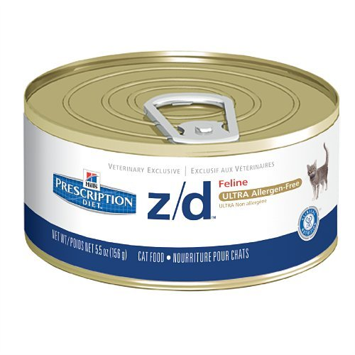 Hill's Diet z/d Ultra Allergen Feline Canned Cat Food (24 -5.5oz Cans) (Hills Canned Cat Food compare prices)