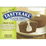 Tastykake Sugar Free Chocolate Cream Filled Cupcakes 12 Cupcakes Per Box